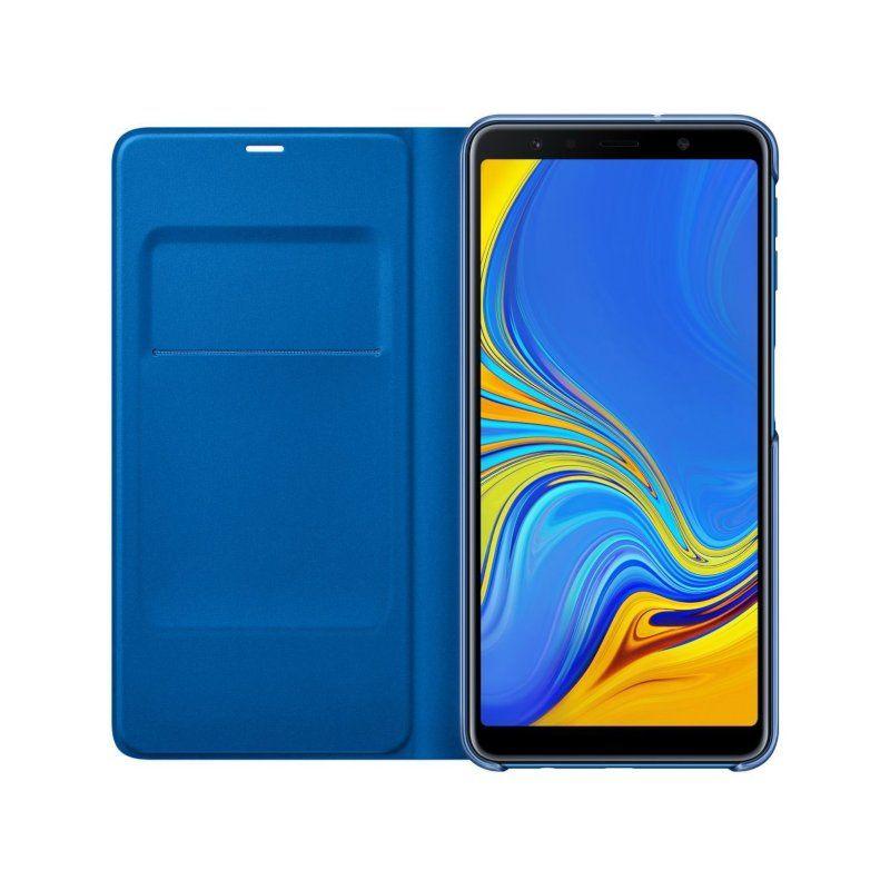 Чехол Samsung Wallet Cover для Galaxy A7 2018 (Blue) в Украине