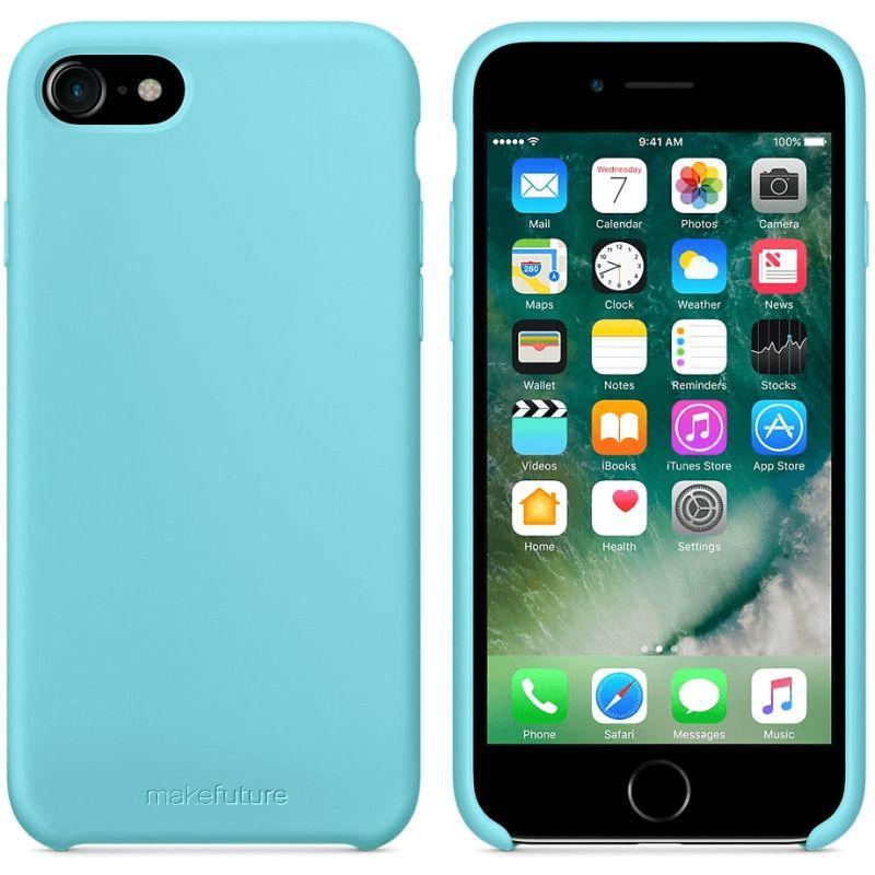 Чехол MakeFuture Silicone для Apple iPhone 7 (MCS-AI7LB) Light Blue купить