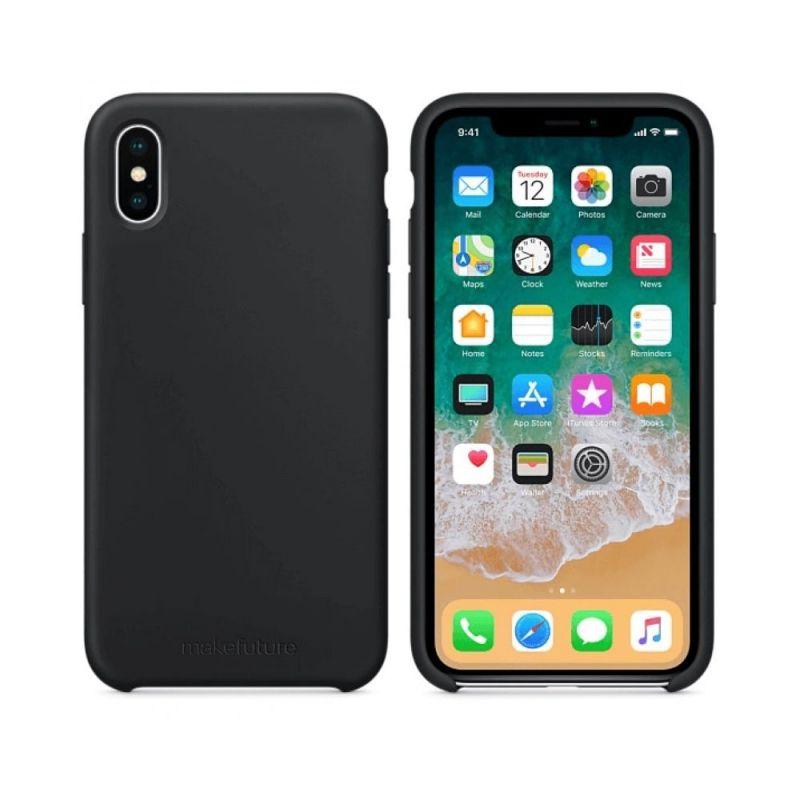 Чехол MakeFuture Silicone для Apple iPhone X (MCS-AIXBK) Black купить