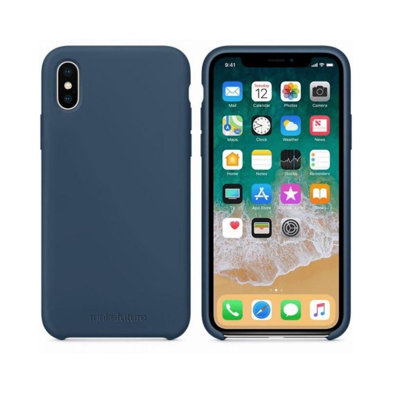Чехол MakeFuture Silicone для Apple iPhone X (MCS-AIXBL) Blue купить