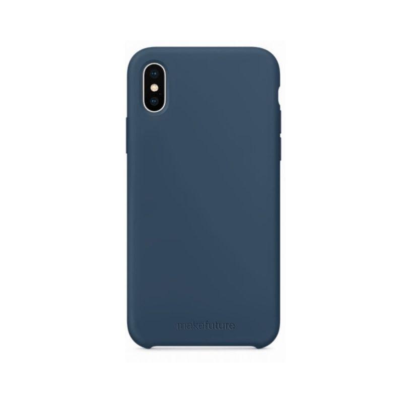Чехол MakeFuture Silicone для Apple iPhone X (MCS-AIXBL) Blue