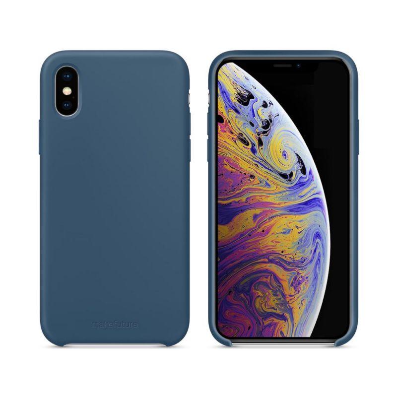 Чехол MakeFuture Silicone для Apple iPhone XS (MCS-AIXSBL) Blue купить