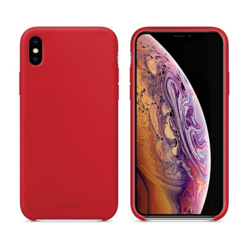 Чехол MakeFuture Silicone для Apple iPhone XS Max (MCS-AIXSMRD) Red недорого