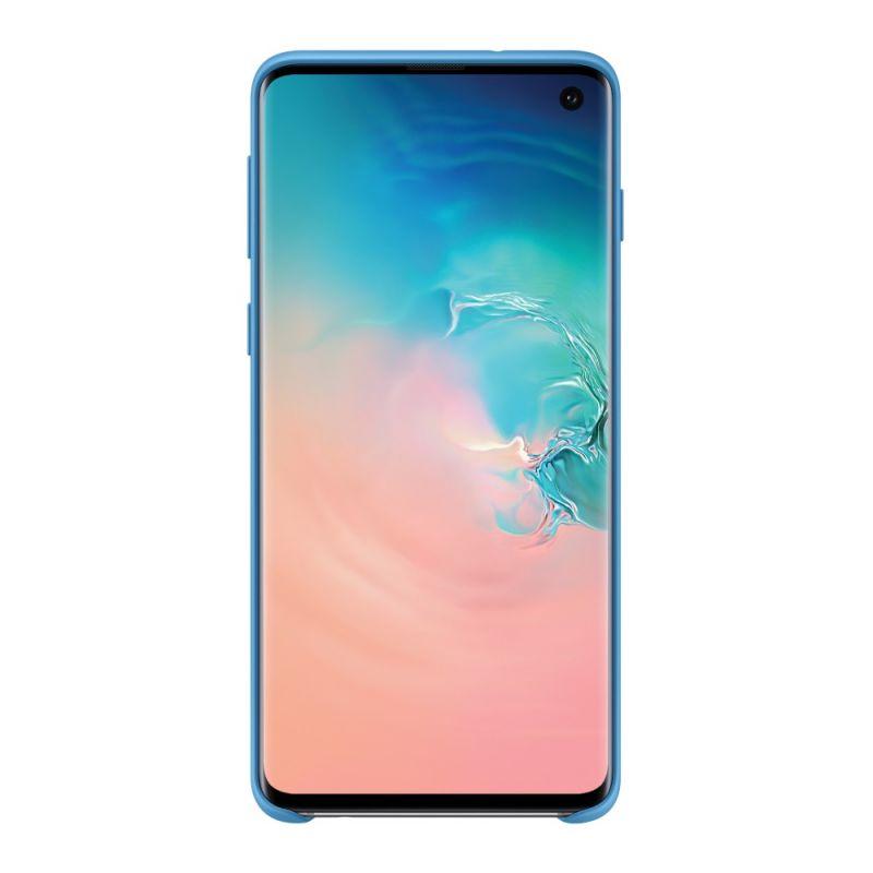 Чехол Samsung Silicone Cover для Galaxy S10 (EF-PG973TLEGRU) Blue недорого
