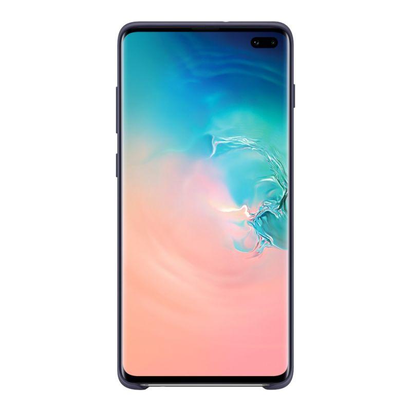 Чехол Samsung Silicone Cover для Galaxy S10 Plus (EF-PG975TNEGRU) Navy недорого