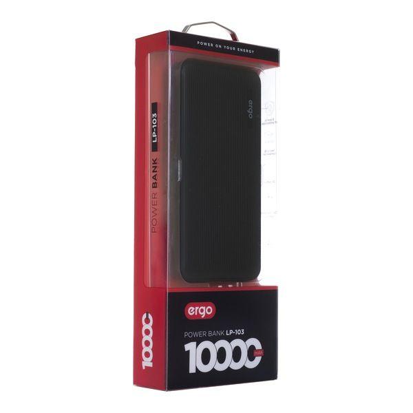 Портативный аккумулятор 10000mAh Ergo LP-103 Li-pol Black Vodafone
