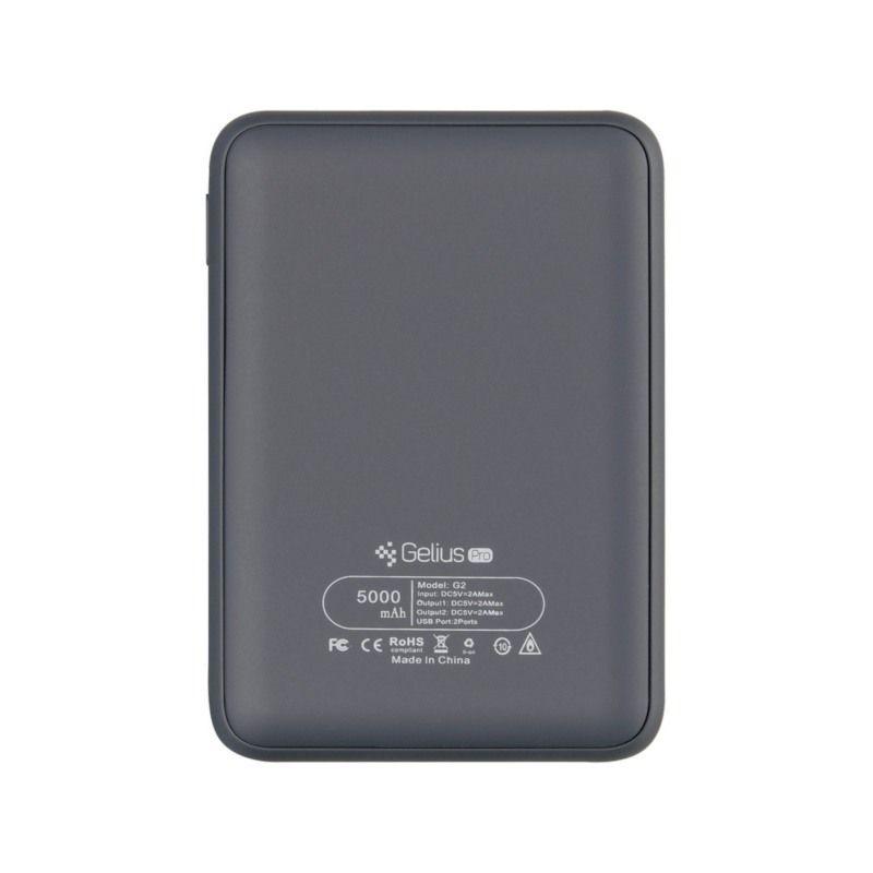 Портативний акумулятор 5000mAh Gelius Pro Soft (GP-PB5-G2) Dark Blue в интернет-магазине