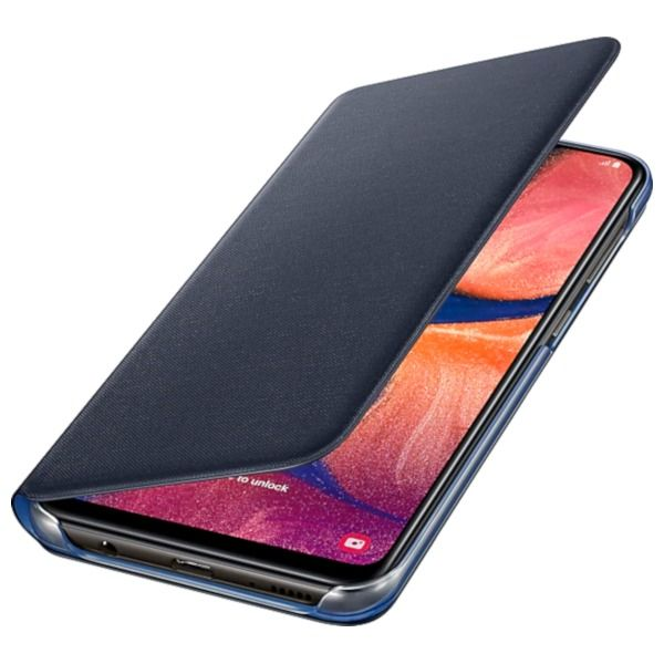 Чехол Samsung Wallet Cover для Galaxy A20 (EF-WA205PBEGRU) Black купить