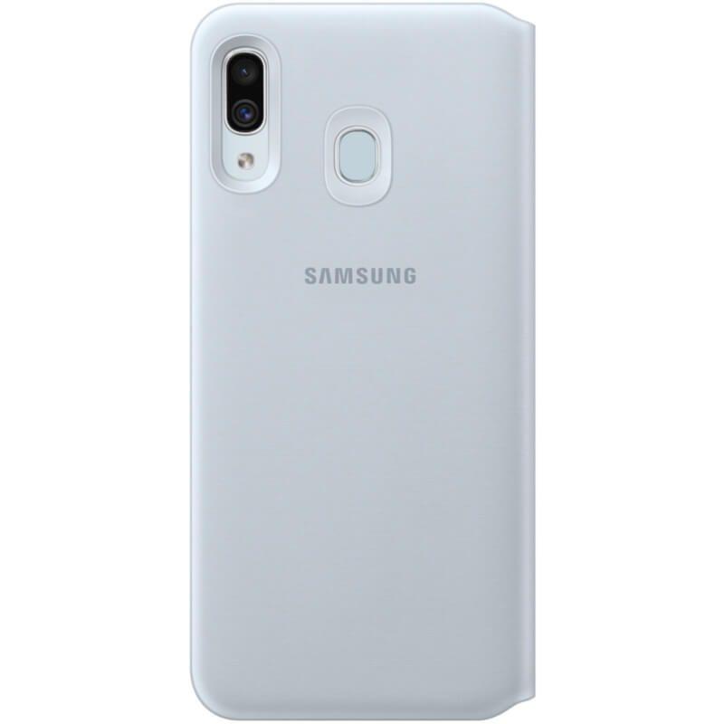 Чехол Samsung Wallet Cover для Galaxy A30 (EF-WA305PWEGRU) White в Украине