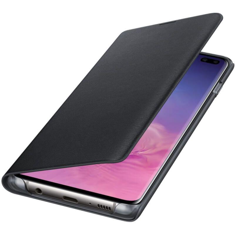 Чехол Samsung LED View Cover для Galaxy S10 Plus (EF-NG975PBEGRU) Black