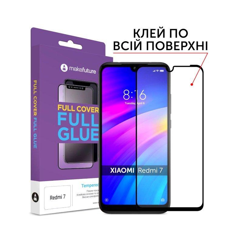 Защитное стекло MakeFuture Full Glue для Xiaomi Redmi 7 Black
