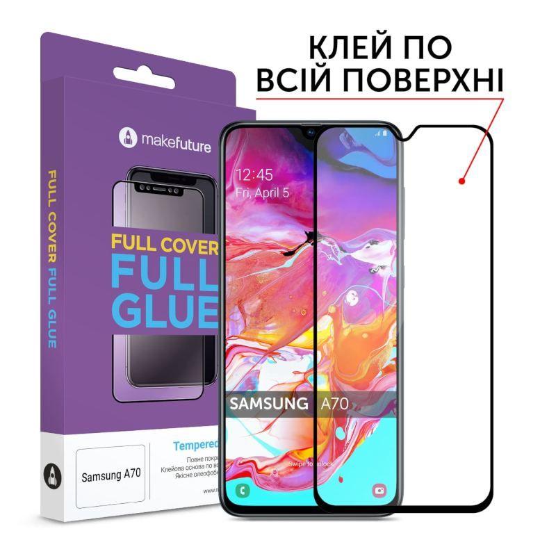 Защитное стекло MakeFuture Full Cover Full Glue Samsung A70 (MGF-SA705)