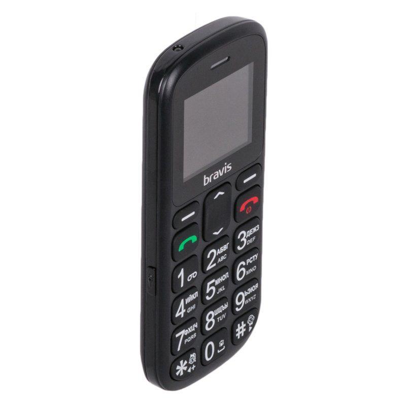 Мобильный телефон Bravis C181 Senior Dual Sim Black недорого