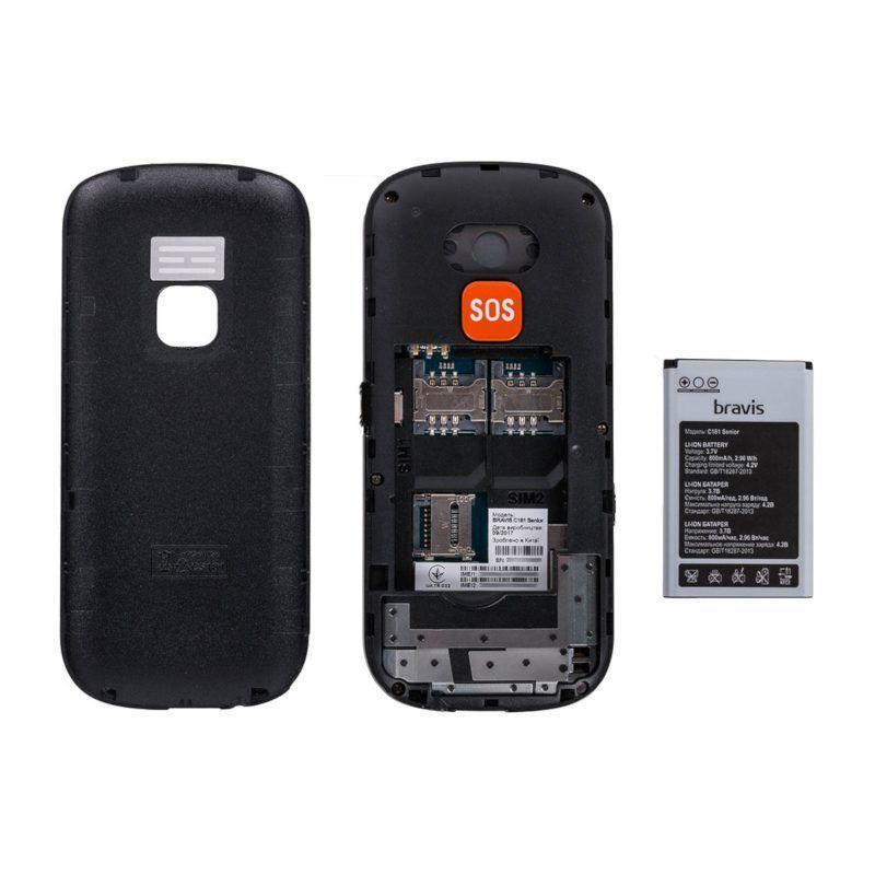 Мобильный телефон Bravis C181 Senior Dual Sim Black цена
