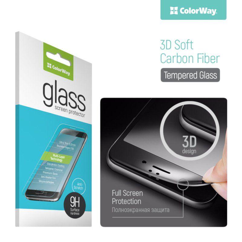 Защитное стекло ColorWay 3D для Samsung Galaxy A7 2017 (Carbon)