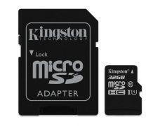 Карта пам'яті Kingston 32Gb microSDHC UHS-I + SD-adapter (SDCS/32Gb)