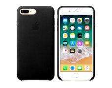 Чехол Apple Leather Case для iPhone 8 Plus/7 Plus (Black)