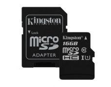 Карта пам'яті Kingston 16Gb microSDXC UHS-I +SD-adapter (SDCS/16Gb)