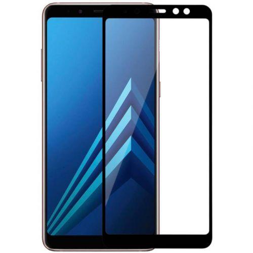 Захисне скло MakeFuture Full Cover для Samsung Galaxy A8 Plus 2018 (Black)