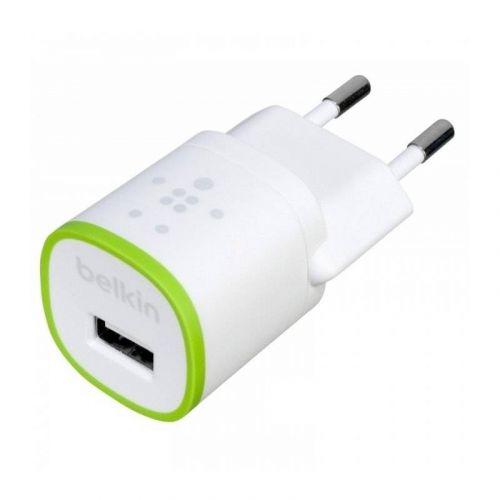 Сетевое зарядное устройство Belkin USB HomeCharger USB 1A,5V (F8J013vfWHT) White