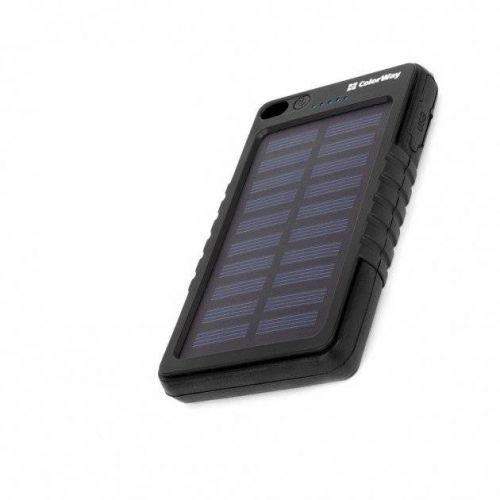 Портативний акумулятор 4000mAh ColorWay SolarCharge (CW-PB040LPB1BK-SF) Black