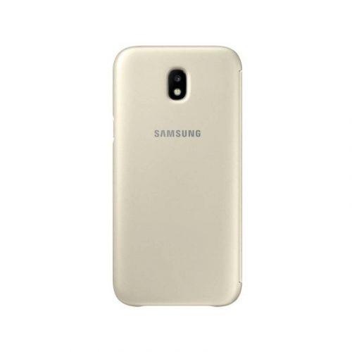 Чехол Samsung Wallet Cover для Galaxy J7 2017 (EF-WJ730CFEGRU) Gold купить