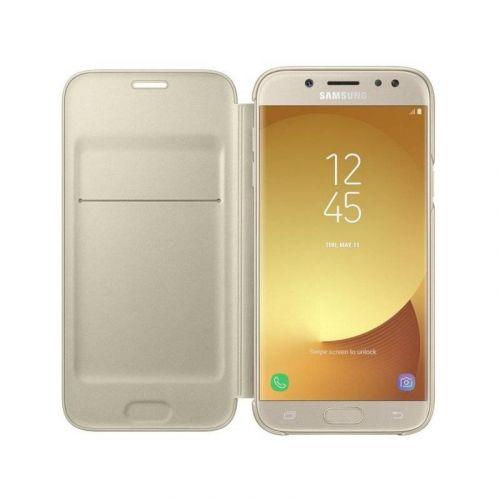 Чехол Samsung Wallet Cover для Galaxy J7 2017 (EF-WJ730CFEGRU) Gold недорого