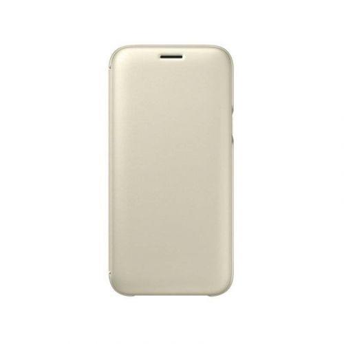 Чехол Samsung Wallet Cover для Galaxy J7 2017 (EF-WJ730CFEGRU) Gold
