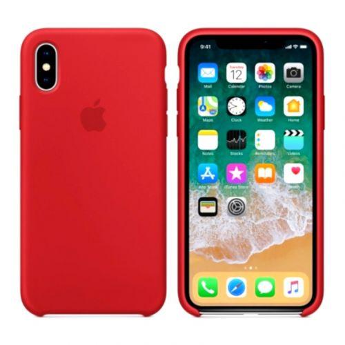 Чехол Apple Silicone Case для iPhone X (Red)