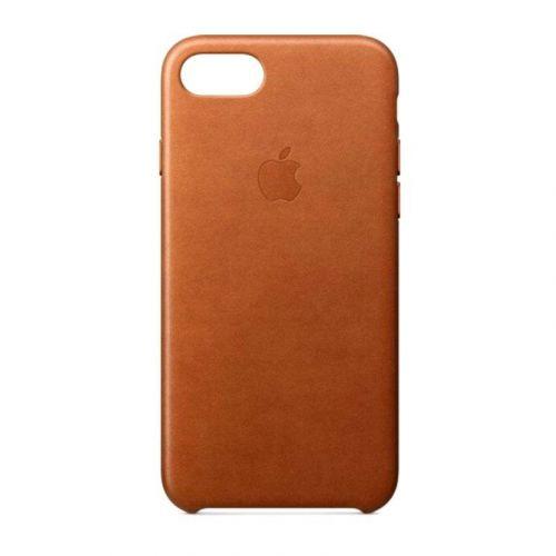 Чехол Apple Leather Case для iPhone 8/7 (Saddle Brown)