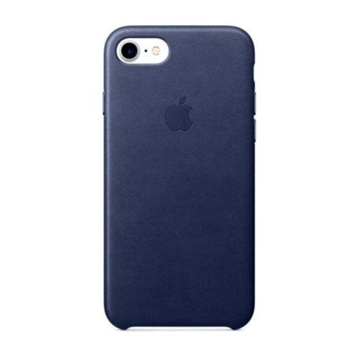 Чехол Apple Leather Case для iPhone 8/7 (Midnight Blue) купить