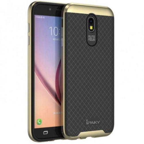 Чехол iPaky Carbon TPU для Samsung Galaxy J7 2017 (J730) Gold