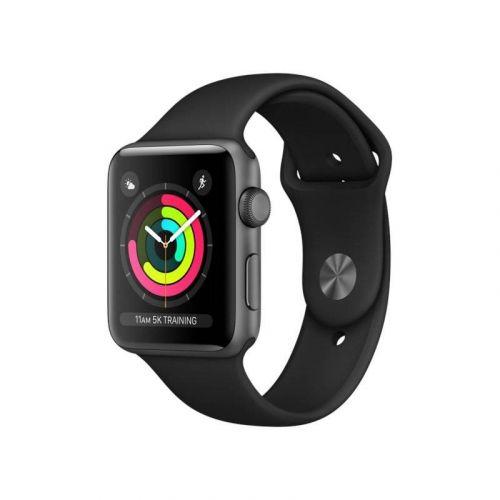 Смарт-часы Apple Watch Series 3 42mm GPS (MQL12) Space Grey Aluminium Case with Black Sport Band купить