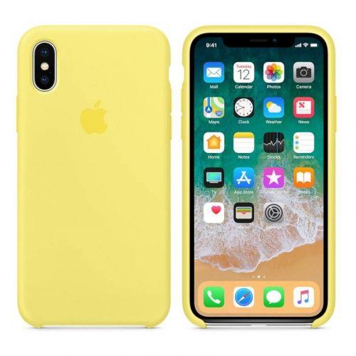 Чехол Apple Silicone Case для iPhone X (Lemonade)