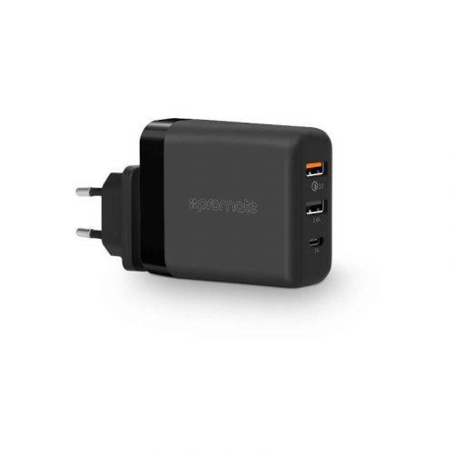 Сетевое зарядное устройство Promate powerHub-QC Blk-EU Black