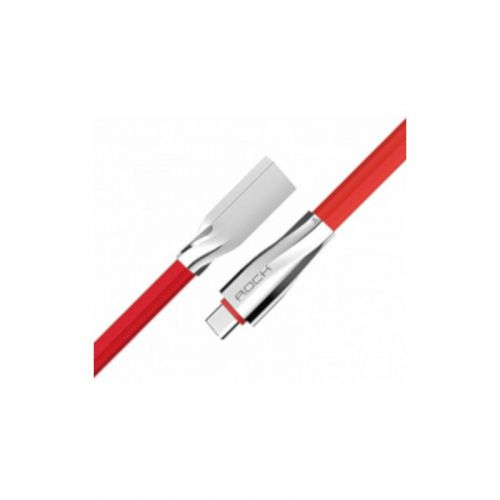 Кабель Rock Salmon type C 3A flat cable 1m Red
