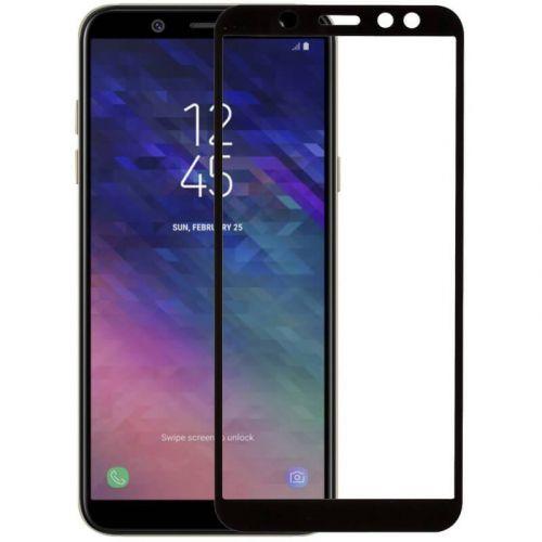 Защитное стекло MakeFuture Full Glue для Samsung Galaxy A6 2018 (Black)