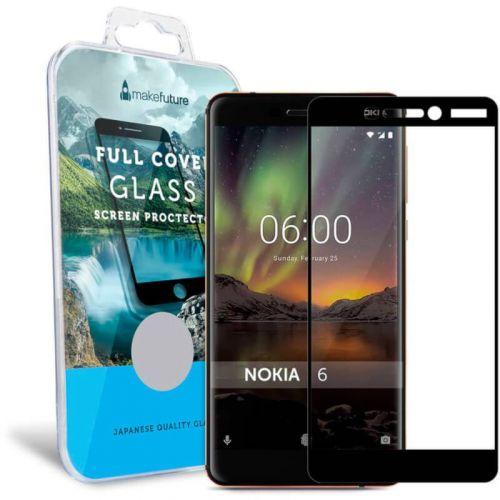 Захисне скло MakeFuture Full Cover для Nokia 6 2018 (Black)