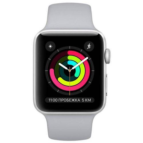Смарт-часы Apple Watch Series 3 42mm GPS (MQL02) Silver Aluminium Case with Fog Sport Band