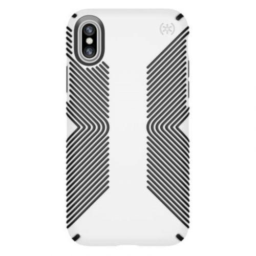 Чехол Speck Presidio Grip для Apple iPhone X (White-Black)