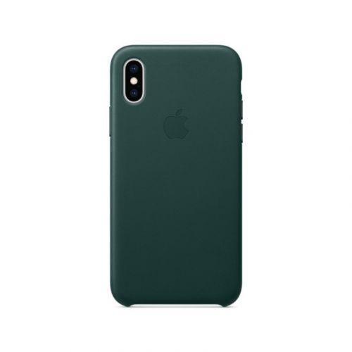 Чехол Apple Leather Case для Apple iPhone XS (Forest Green) недорого