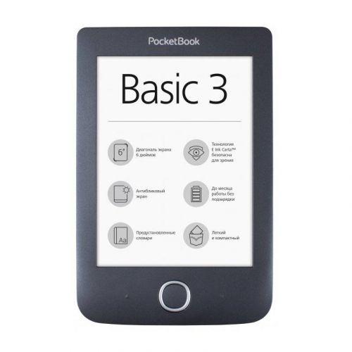 Электронная книга PocketBook 614 Basic3 (PB614-2-E-CIS) Black