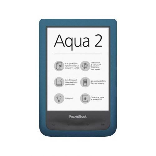 Электронная книга PocketBook 641 Aqua 2 (PB641-A-CIS) Blue/Black