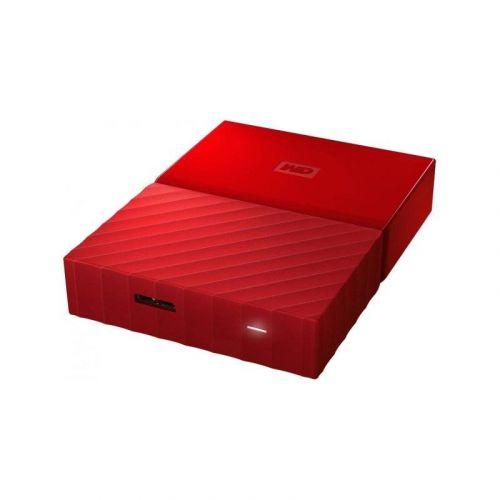 Внешний жесткий диск 4Tb Western Digital My Passport (WDBYFT0040BRD-WESN) Red купить