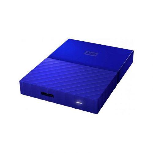 Внешний жесткий диск 1Tb Western Digital My Passport (WDBYNN0010BBL-WESN) Blue купить