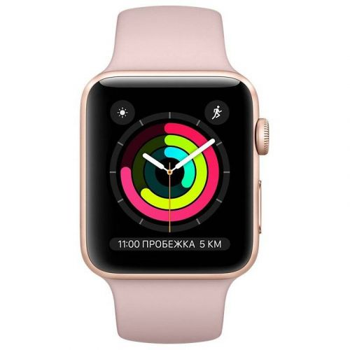 Смарт-часы Apple Watch Series 3 42mm GPS (MQL22) Gold Aluminium Case with Pink Sand Sport Band