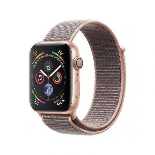 Смарт-часы Apple Watch Series 4 40mm GPS (MU692) Gold Aluminum Case with Pink Sand Sport Loop купить