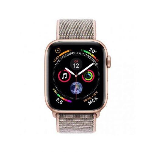 Смарт-часы Apple Watch Series 4 40mm GPS (MU692) Gold Aluminum Case with Pink Sand Sport Loop