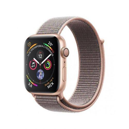Смарт-часы Apple Watch Series 4 44mm GPS (MU6G2) Gold Aluminum Case with Pink Sand Sport Loop купить