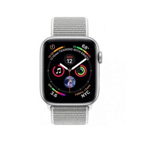Смарт-часы Apple Watch Series 4 40mm GPS (MU652) Silver Aluminum Case with Seashell Sport Loop